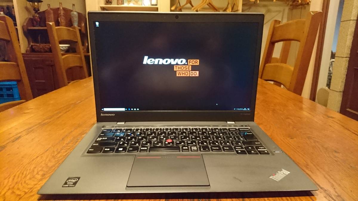 上位モデル lenovo ThinkPad X1 Carbon 2014 Core i7-4600U 8G M.2SSD512GB WQHD(2560x1440) office2016