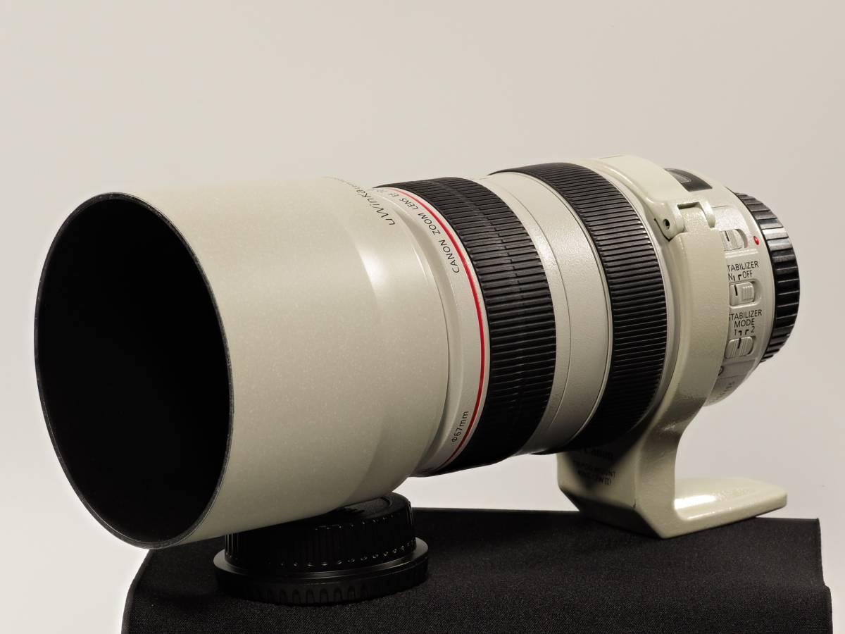 美品:Canonキャノン EF70-300mm F45.6L IS USM 三脚座・白フードなどフルセット
