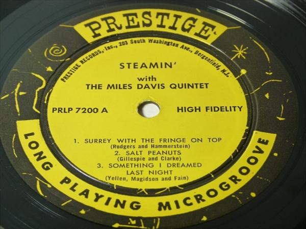 【オリジナル】STEAMIN' / Miles Davis Quintet★RVG/深溝★_画像2