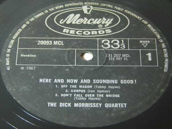 【UKオリジナル】HERE & NOW & SOUNDING GOOD / The Dick Morrissey Quartet_画像2