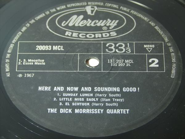 【UKオリジナル】HERE & NOW & SOUNDING GOOD / The Dick Morrissey Quartet_画像3