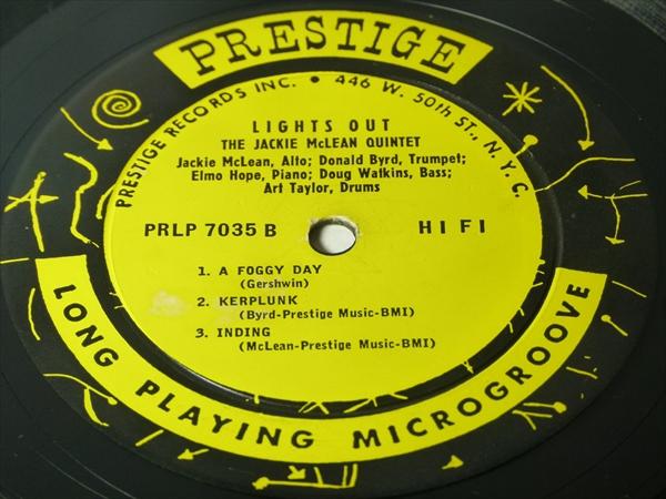 【オリジナル】LIGHTS OUT / Jackie Mclean Quintet★RVG/深溝/額縁ジャケ★_画像3