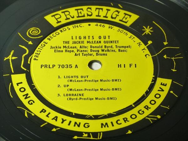 【オリジナル】LIGHTS OUT / Jackie Mclean Quintet★RVG/深溝/額縁ジャケ★_画像2