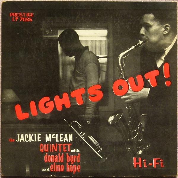 【オリジナル】LIGHTS OUT / Jackie Mclean Quintet★RVG/深溝/額縁ジャケ★