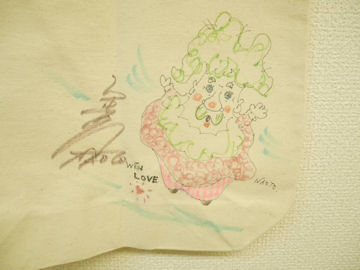 [チャリティ]★☆竹中直人さん直筆イラスト入りサイントートバック・1☆★_画像2