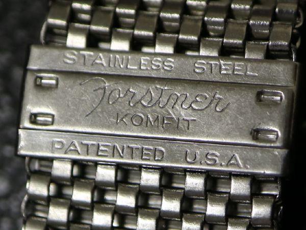 【16.0㎜ シルバー 直かん】 1940's~ FORSTNER NASA ミッション ブレス タイプ SS USA製 ビンテージ アンティーク / OMEGA BULOVA 用に!_画像6