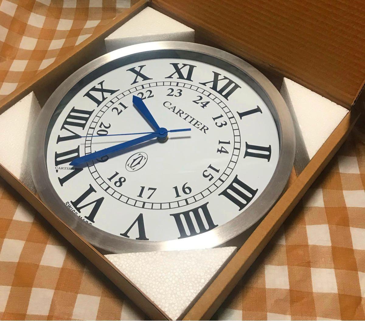 ラスト1点限定! 箱付 非売品 販売促進用 掛け時計 CARTIER カルティエ 壁掛け時計 ホワイト