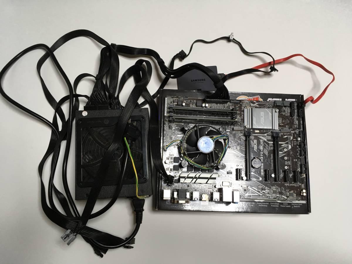ジャンク品  PC自作セット一式OS:windows10・マザーボード:PRIME H270-PLUS ・CPU:CeleronG3930・SSD120GB・メモリ8GB