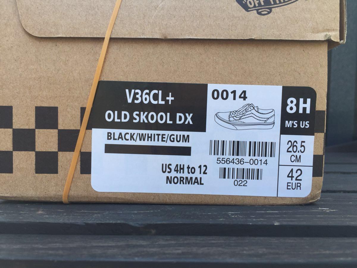 Varebil Gamle Skool Dx Old School Dx V36cl + Svart / Hvit / Tyggis tT34adjAJ