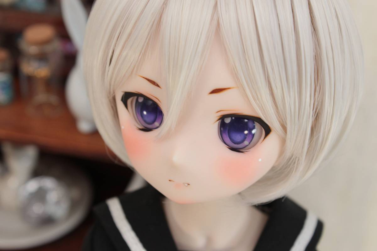 DDH-01 セミホワイト肌 カスタムヘッド+アイ*狐花*_画像4