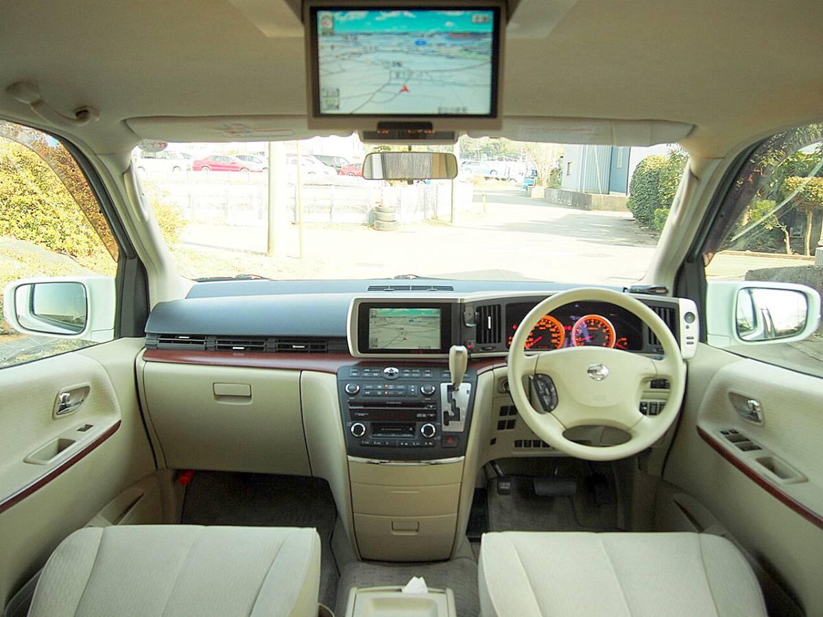 車検32年2月 17年 エルグランド 4WD 両側オートスライド ナビTV DVD再生 後席モニター リア&サイドカメラ ETC インテリキー HID 修復歴なし_画像3