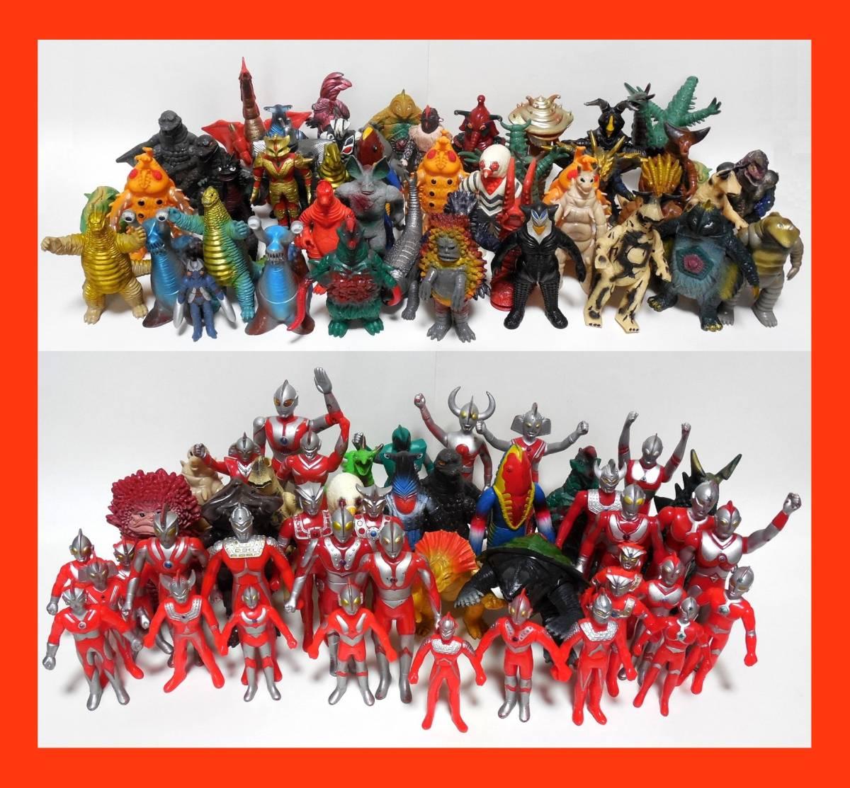 バンダイ ウルトラコレクション ウルトラ怪獣シリーズ 大量セット 硬質ソフビ 日本製 まとめて ウルトラマン ウルトラセブン ガメラ ゴジラ