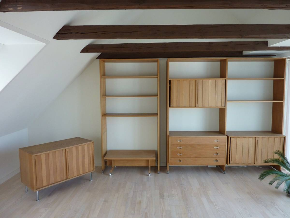 Hans J Wegner RY100 oak shelves ハンス J ウェグナー システムキャビネット