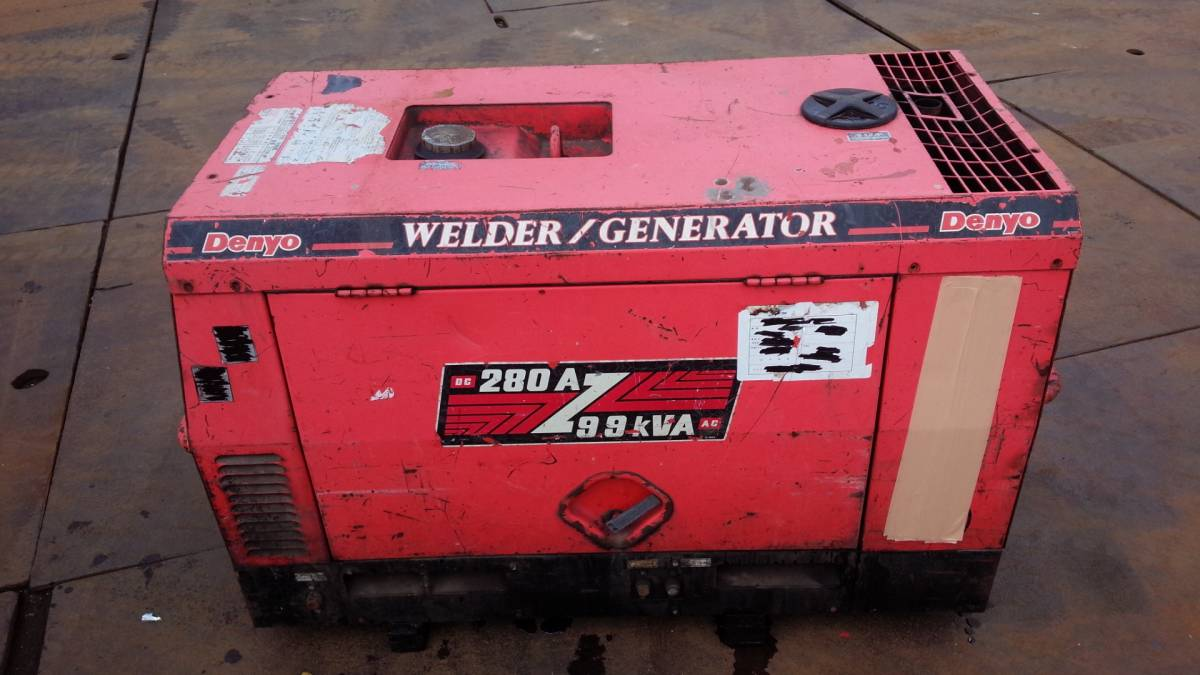 selling up * Denyo BLW-280SSY soundproofing type engine welding