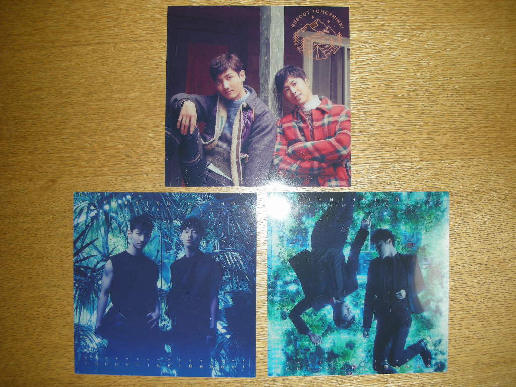 東方神起 ~Begin Again~ツアー会場CD・DVD購入 限定特典クリアジャケットサイズカード全3種