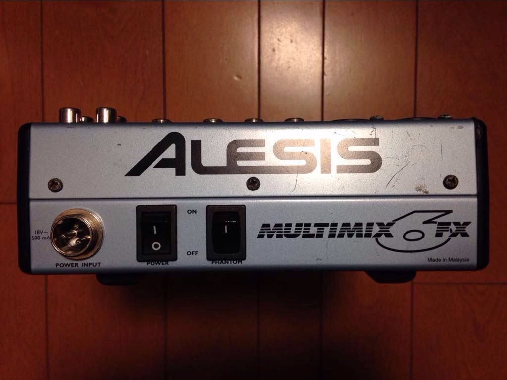 【ジャンク品】Alesis(アレシス)6Chミキサー MULIMIX6FX_画像2