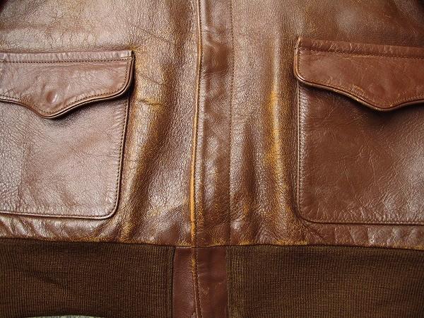 リアルマッコイズ A-2 フライトジャケット ラフウエア実名復刻 36 明茶色系 マッコイ_画像4