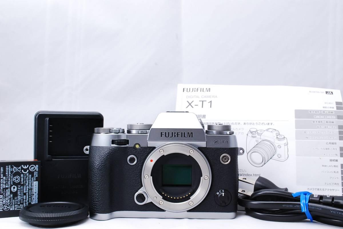 【極美品】FUJIFILM 富士フィルム X-T1 Graphite Silver Edition グラファイトシルバー★安心の半年間返金保証!(k16z59f98Z28)