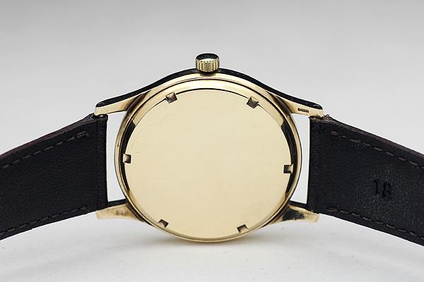 1円 アンティーク SMITHSスミス EVERESTエベレスト 19石 メンズ 手巻き 腕時計 9金無垢 英国製_画像5