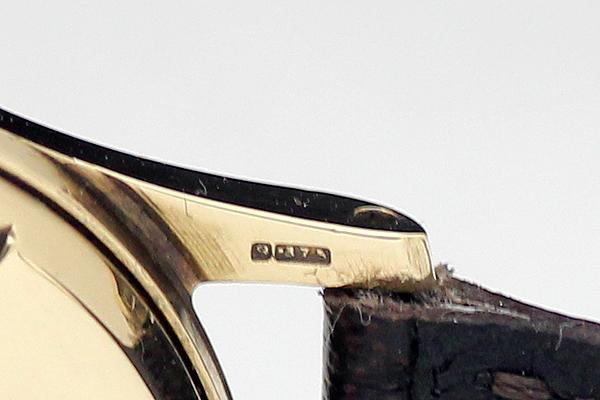 1円 アンティーク SMITHSスミス EVERESTエベレスト 19石 メンズ 手巻き 腕時計 9金無垢 英国製_画像6