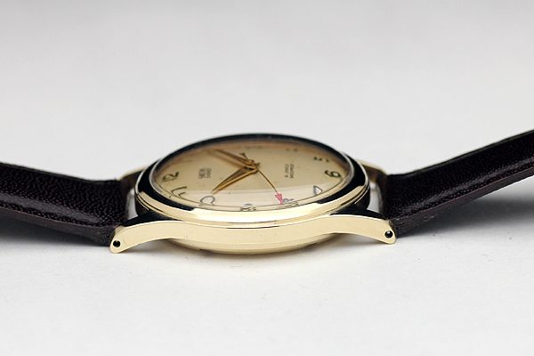 1円 アンティーク SMITHSスミス EVERESTエベレスト 19石 メンズ 手巻き 腕時計 9金無垢 英国製_画像7