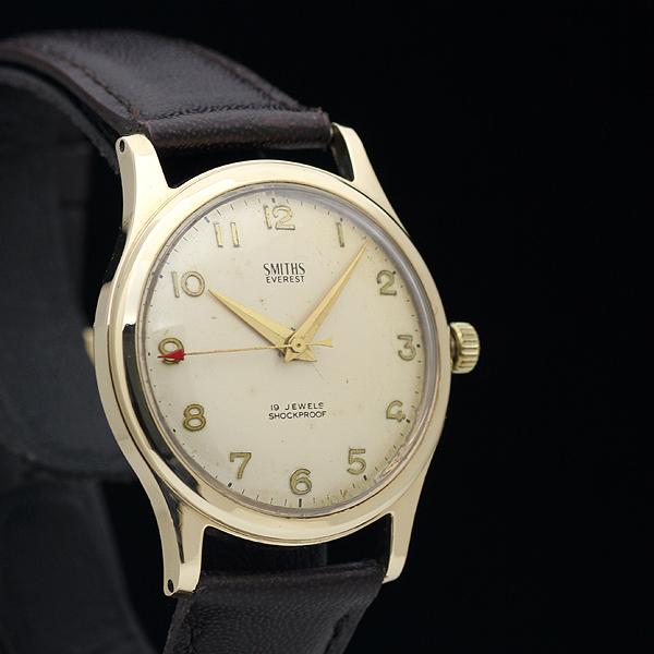 1円 アンティーク SMITHSスミス EVERESTエベレスト 19石 メンズ 手巻き 腕時計 9金無垢 英国製