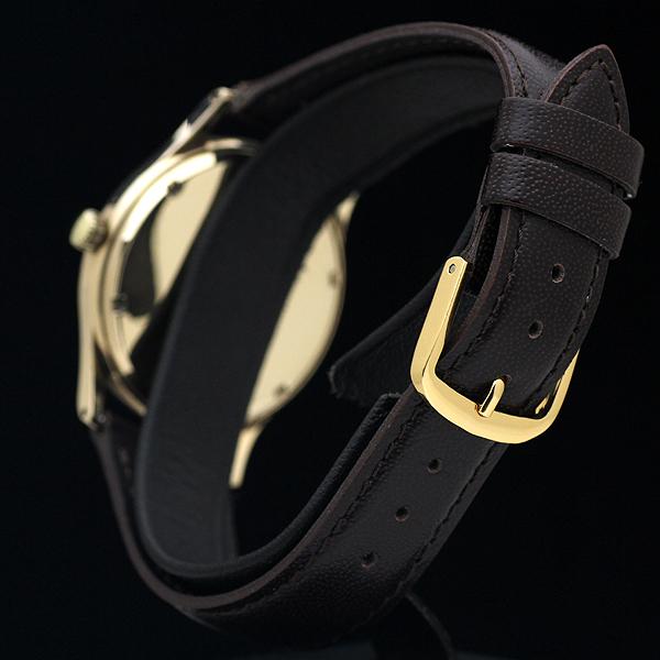 1円 アンティーク SMITHSスミス EVERESTエベレスト 19石 メンズ 手巻き 腕時計 9金無垢 英国製_画像4