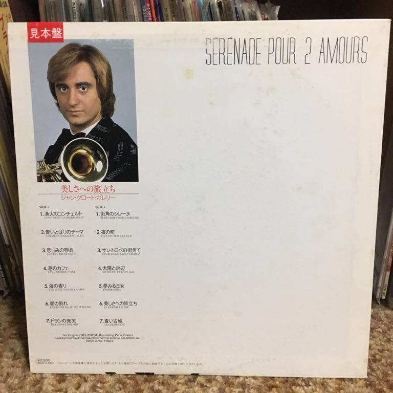【LPレコード】ジャン・クロード・ボレリー/美しさへの旅立ち 再生確認済み 国内盤LP_画像2
