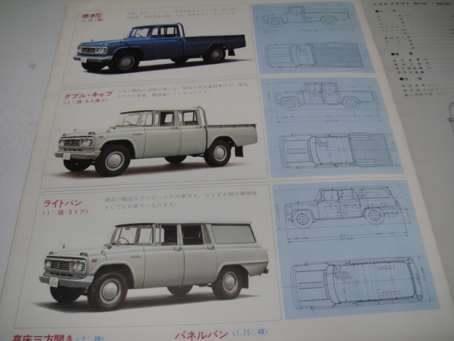 △当時物 旧車カタログ/パンフレット トヨタスタウト2000㏄⑲_画像5