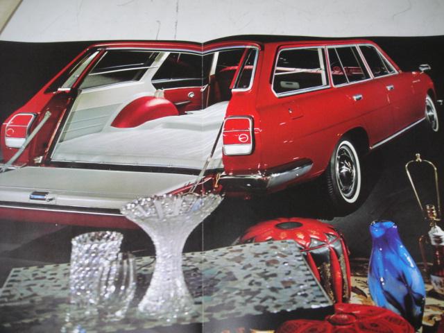 △当時物 旧車カタログ/パンフレット 日産2代目130型系セドリックバン 1965年 難有_画像4