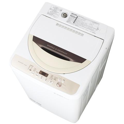 展示品★美品☆★SHARP 全自動洗濯機 ES-GE45R-C[4.5kg/高濃度洗浄/風乾燥2016年製-★☆未使用