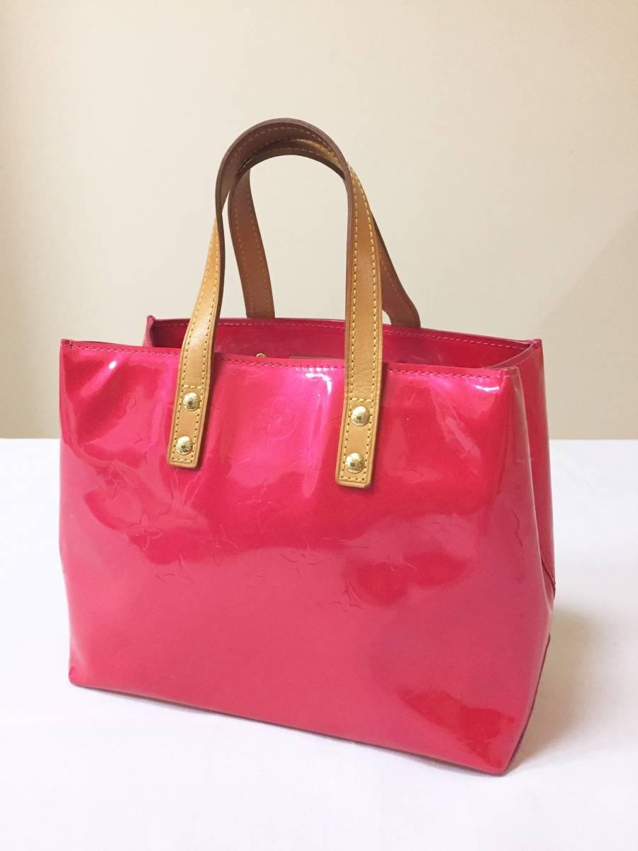 ◆ 良品 ◆ ルイヴィトン LOUIS VUITTON ヴェルニ リード PMフューシャピンク バッグ