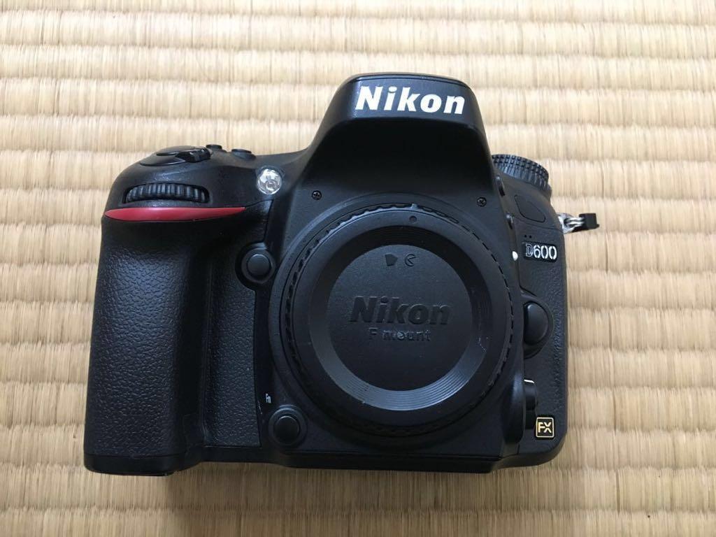 一眼レフカメラ D600 ニコンにてオーバーホール済み。送料無料 シャッターレリーズ約50000回