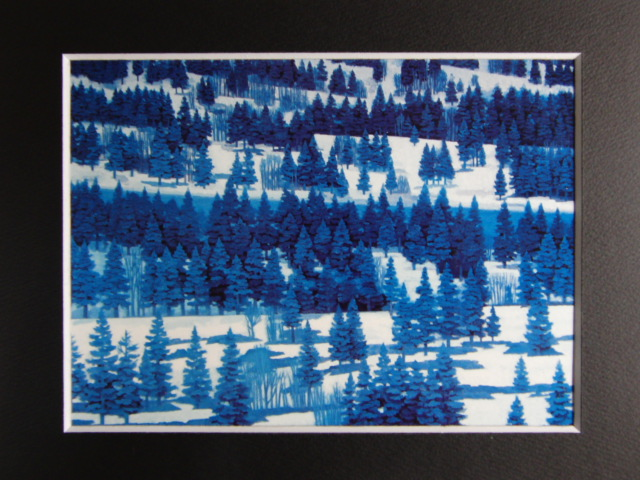 東山魁夷、【雪原譜】、希少な画集画、新品高級額・額装付、状態良好、送料込み、日本画_画像3
