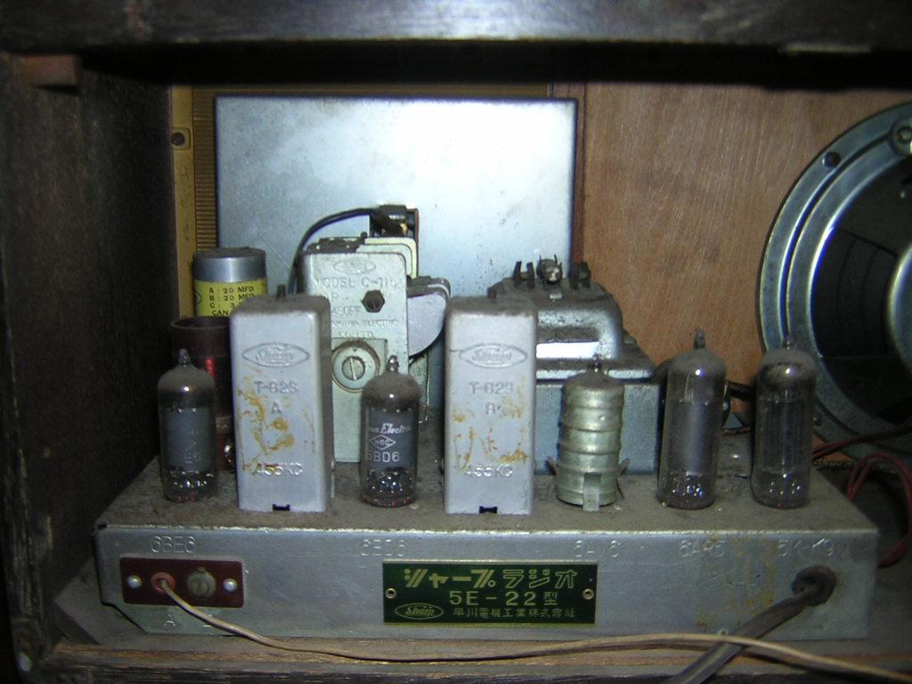 シャープ 早川電機 真空管ラジオ 5E-22型 現状ジャンク品 レトロ _画像4