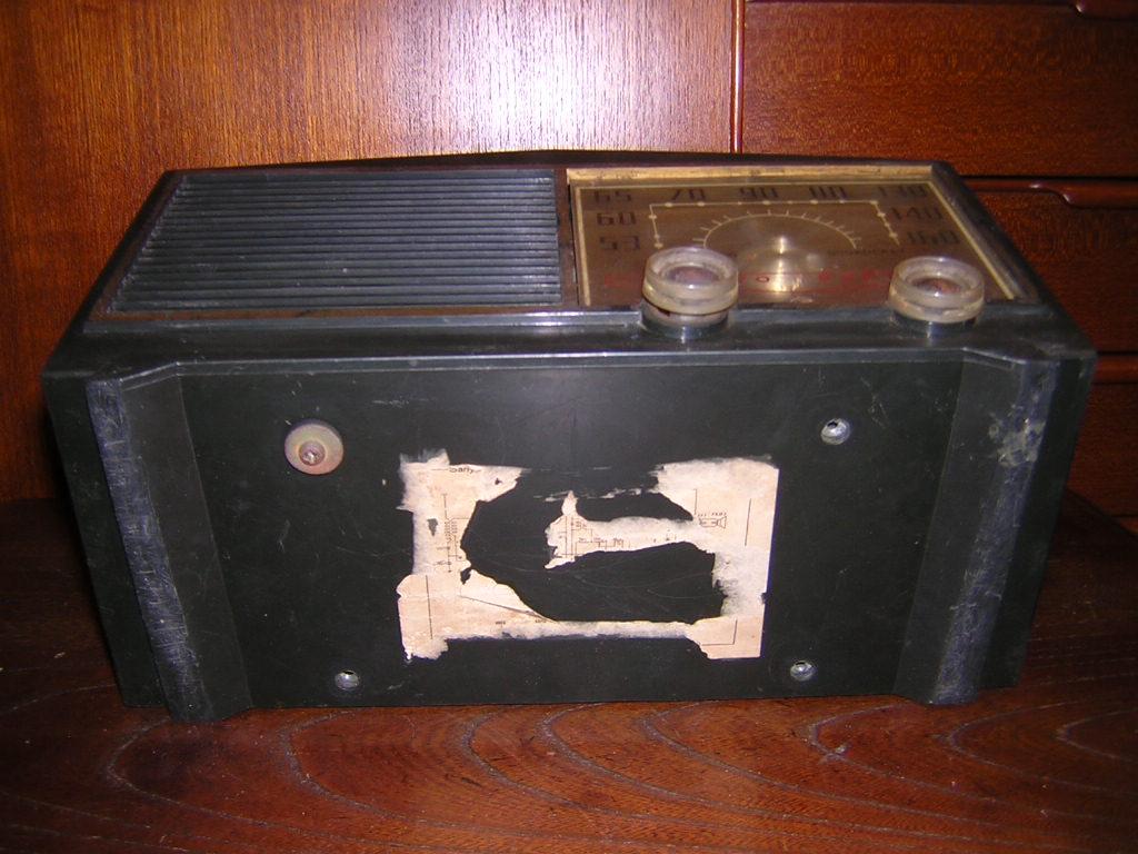サンヨー 真空管ラジオ SS-58 箱付き 現状ジャンク品扱い レトロ _画像8
