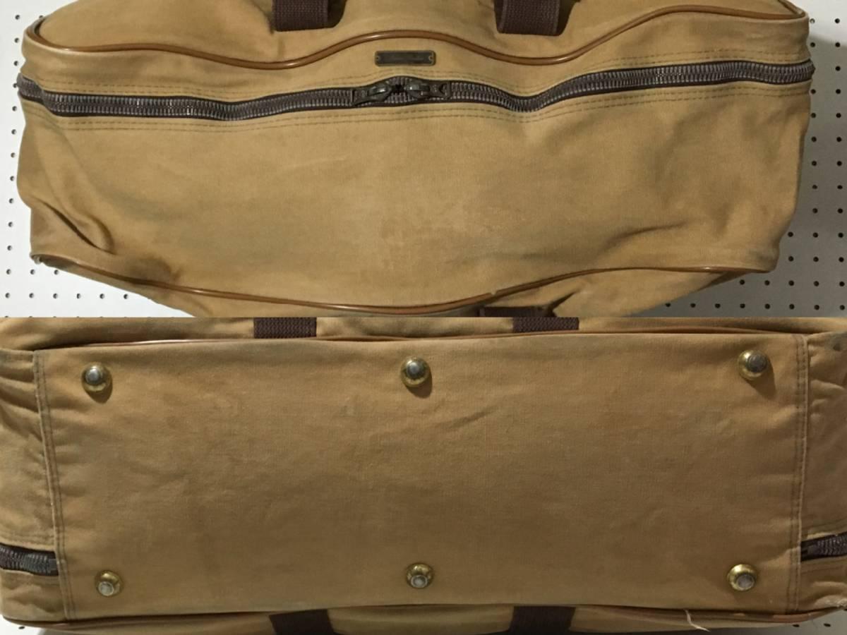 [中古 ビンテージ 70s USA製]BROOKS BROTHERS CANVAS DUFFLE BAG ブルックスブラザーズ キャンバス ダッフル バッグ ブラウン_画像5