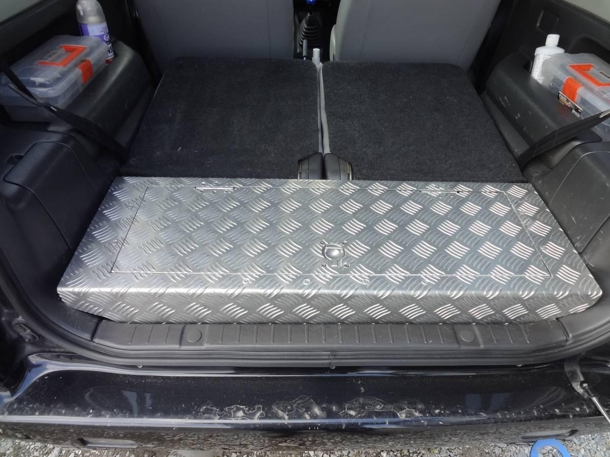 ジムニー JB23用 特注アルミ縞板製 ラゲッジBOX 未使用品