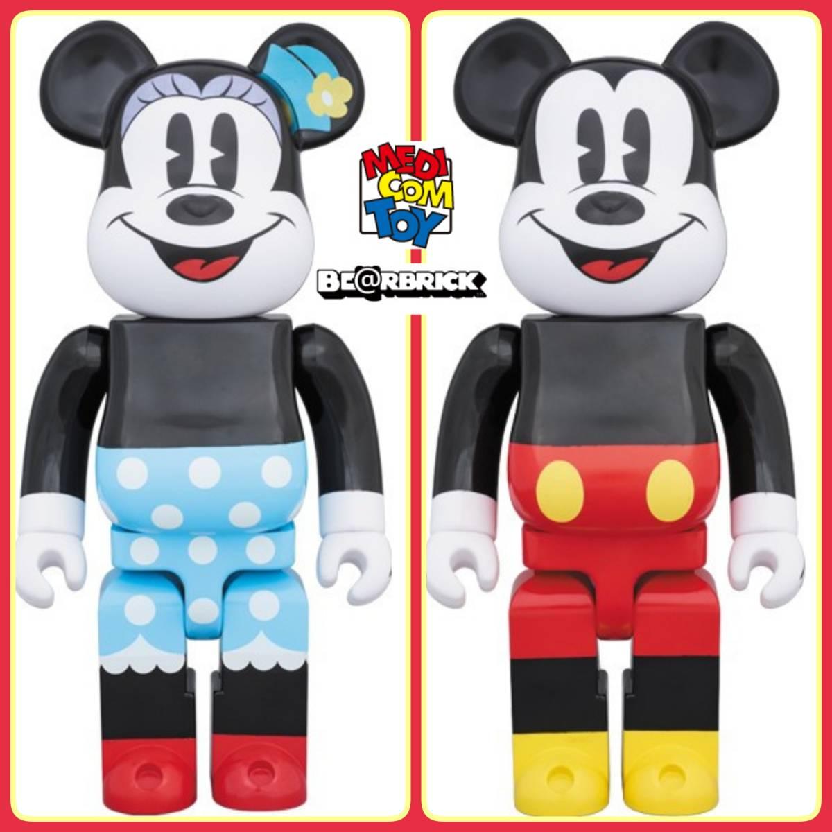 メディコム・トイ★BE@RBRICK★ミッキーマウス&ミニーマウス400% 2体セット ベアブリック MICKEY MOUSE & MINNIE MOUSE medicom toy disny_画像1