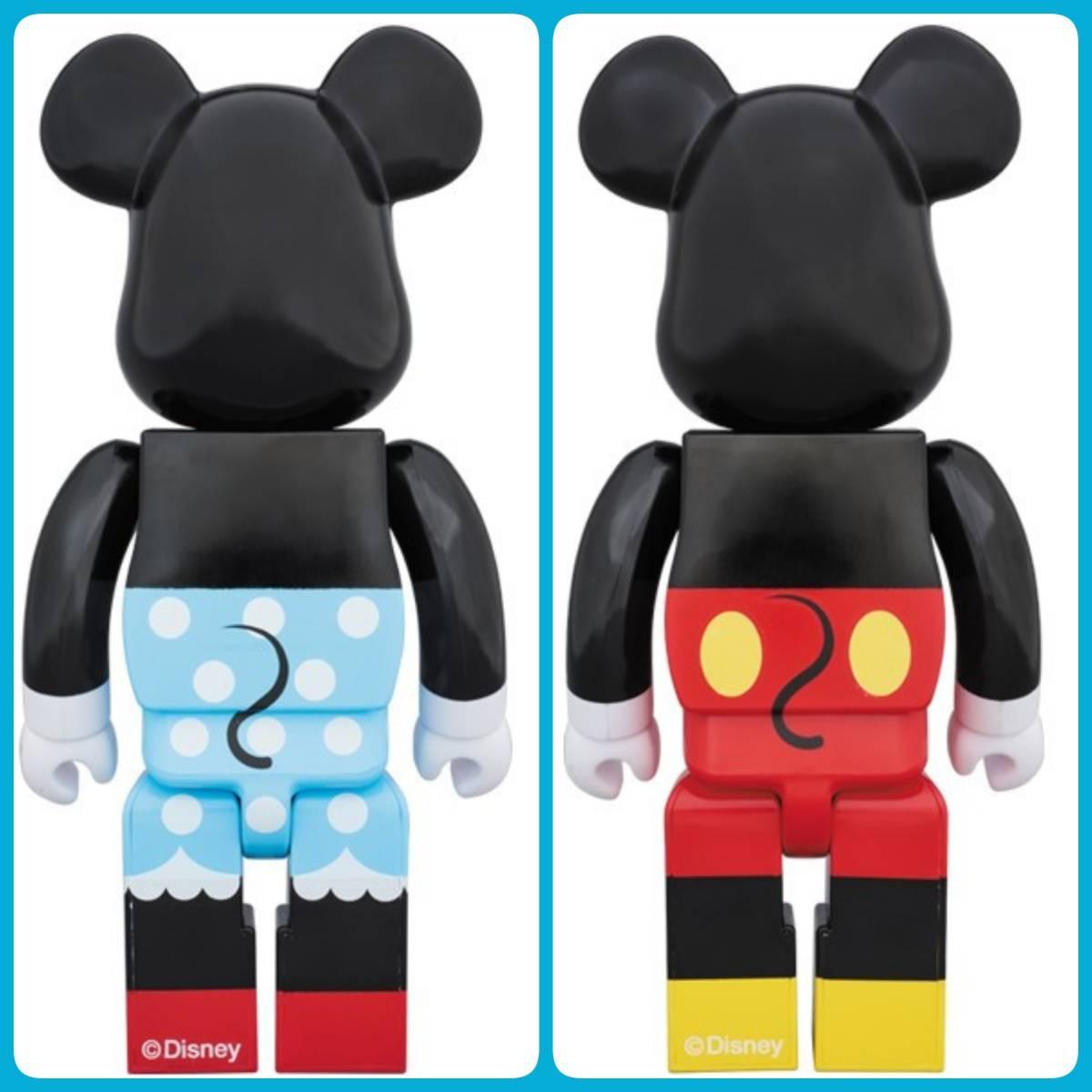 メディコム・トイ★BE@RBRICK★ミッキーマウス&ミニーマウス400% 2体セット ベアブリック MICKEY MOUSE & MINNIE MOUSE medicom toy disny_画像2
