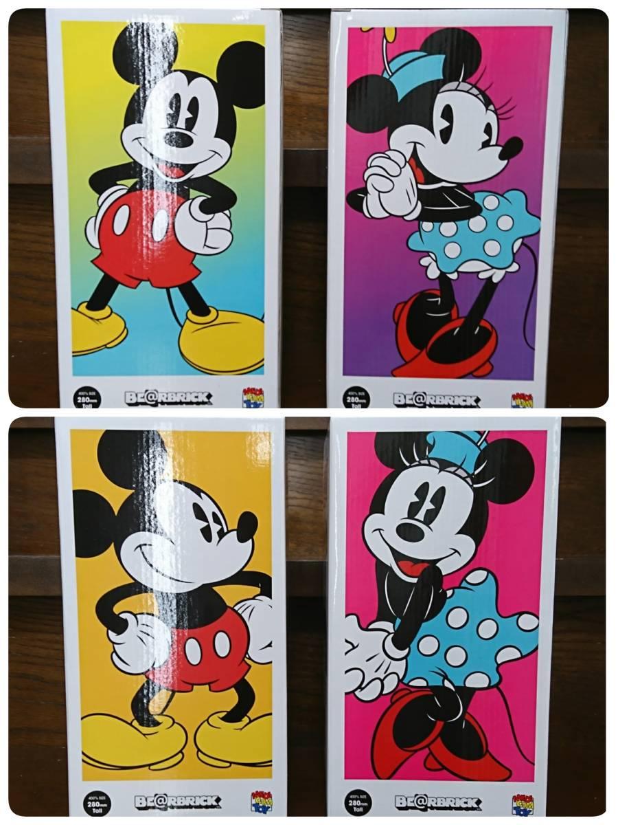 メディコム・トイ★BE@RBRICK★ミッキーマウス&ミニーマウス400% 2体セット ベアブリック MICKEY MOUSE & MINNIE MOUSE medicom toy disny_画像3