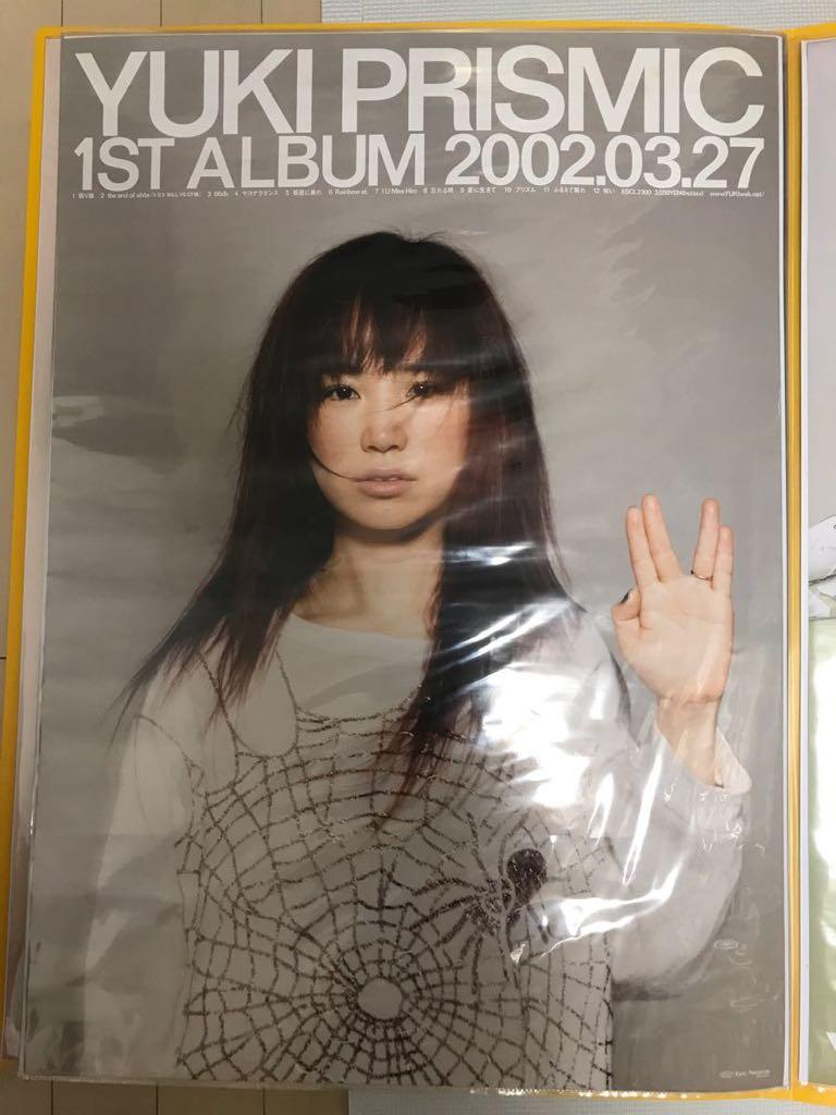 ●【未使用】YUKI 「PRISMIC」B2 告知ポスター CD 1stアルバム ユキ 非売品 プリズミック デビューアルバム