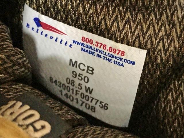 新品 実物 ベルビル BELLEVILLE ブーツ ゴアテックス goretex メンズ USA製 アメリカ製 アウトドア 登山 キャンプ サバゲー 用 米軍納入_画像6