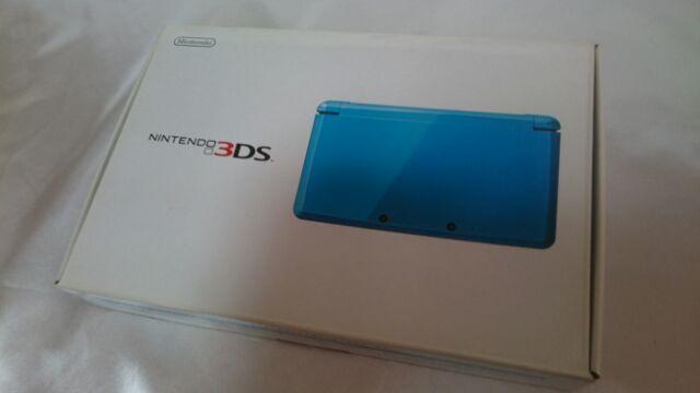 NINTENDO 3DS 任天堂 ライトブルー 本体 箱 説明書 保証書 アダプター 充電器 稼働品 完動 美品_画像10