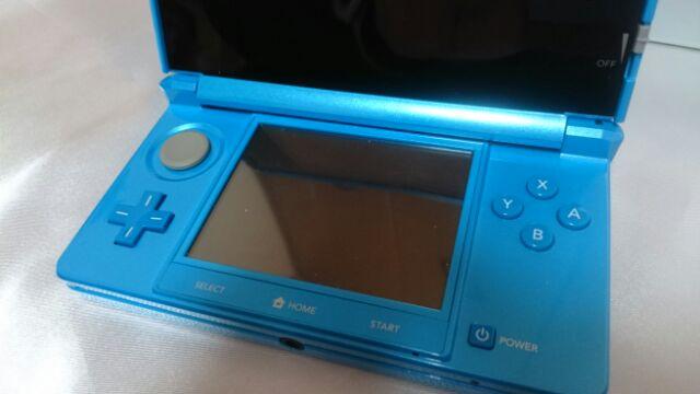 NINTENDO 3DS 任天堂 ライトブルー 本体 箱 説明書 保証書 アダプター 充電器 稼働品 完動 美品_画像5