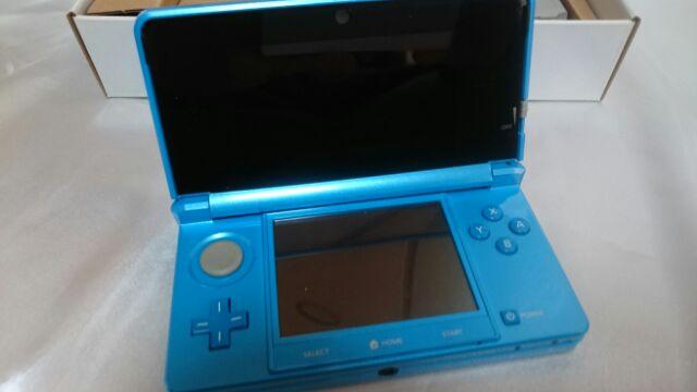 NINTENDO 3DS 任天堂 ライトブルー 本体 箱 説明書 保証書 アダプター 充電器 稼働品 完動 美品_画像6