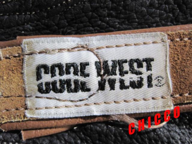 即決★USA製★CODE WEST メンズ US8.5M≒25.5cm位 茶★コード ウエスト スエード レザー ウエスタン ブーツ キャメル アメカジ 本革 米国製_画像9