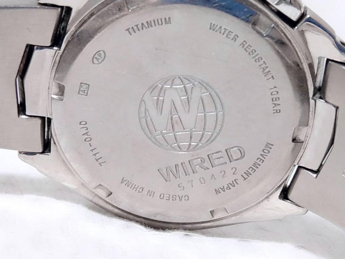 SEIKO/ Seiko /WIRED/ Wired /7T11-0AJ0/ chronograph / men\'s ...