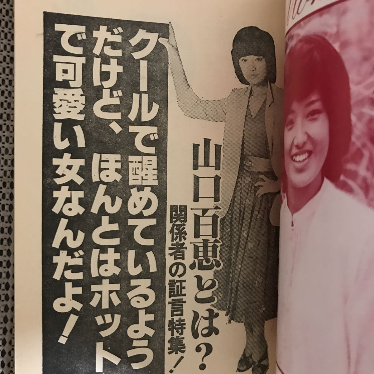 MOMOE 山口百恵・20歳の手帳 近代映画附録/昭和54年5月号 状態良好です_画像6