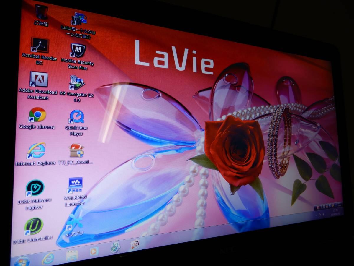 NEC Lavie L LL750/D PC-LL750DS3ER Core i5搭載 Windows7 現状品_画像2